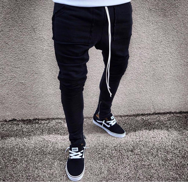 Black Banding Big Pocket Jogger Pant HB18 Streetwear Jogger Pants - Sneakerjeans