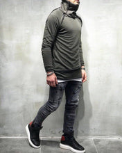 Load image into Gallery viewer, Khaki Turtleneck Sweater SJ230 Streetwear Sweatshirt - Sneakerjeans