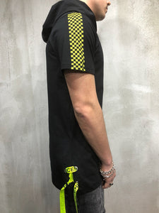 Black Yellow Hoodie Oversize T-Shirt A98 Streetwear T-Shirts