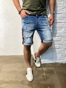 Snake Slim Fit Denim Short B128 Streetwear Denim Jeans
