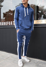 Load image into Gallery viewer, Blue White Stripe Tracksuit SJ239 Streetwear Tracksuits - Sneakerjeans