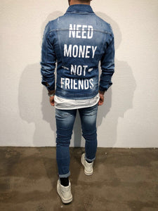 Printed Denim Jacket B79 Streetwear Denim Jacket