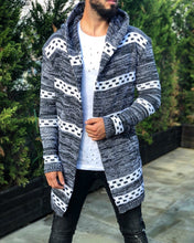 Load image into Gallery viewer, Light Gray Oversized Hoodie Cardigan B253 Streetwear Cardigan
