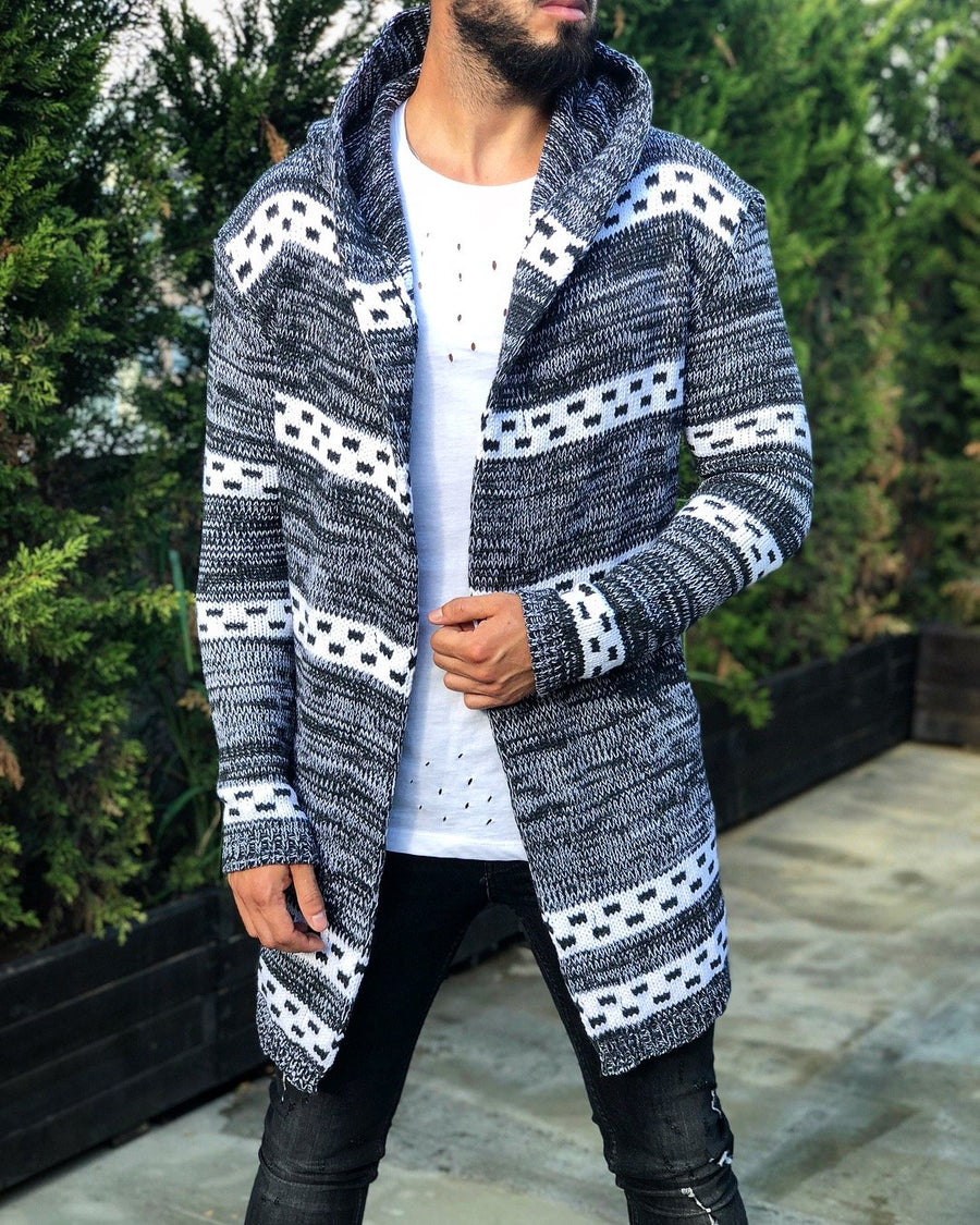 Light Gray Oversized Hoodie Cardigan B253 Streetwear Cardigan - Sneakerjeans