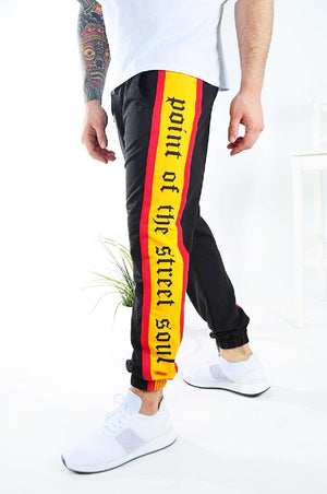 Black Side Printed Jogger Pant KB146 Streetwear Jogger Pants - Sneakerjeans