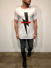 Load image into Gallery viewer, White Printed Oversized T-Shirt B86 Streetwear T-Shirts - Sneakerjeans