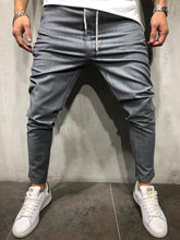 Load image into Gallery viewer, Gray Blue Striped Casual Jogger Pant A214 Streetwear Casual Jogger Pants