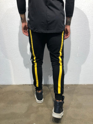 Sneakerjeans - Black Yellow Jogger Pant B304 Joggers - Sneakerjeans