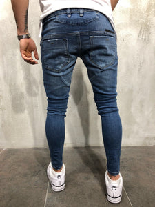 Blue Distressed Denim A39 Streetwear Denim Jeans
