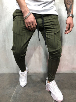 Khaki Side Striped Jogger Pant A100 Streetwear Jogger Pants - Sneakerjeans