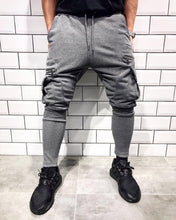 Load image into Gallery viewer, Gray Cargo Pocket Jogger Pant SJ268 Streetwear Jogger Pants