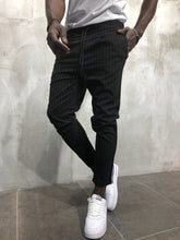 Load image into Gallery viewer, Black Banding Casual Jogger Pant A56 Streetwear Jogger Pants