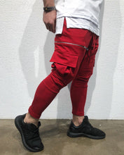 Load image into Gallery viewer, Red Cargo Pocket Jogger Pant SJ268 Streetwear Jogger Pants