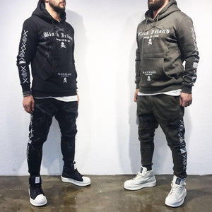 Khaki Gangs of the Street Tracksuit Set SJ248 Streetwear Tracksuits - Sneakerjeans