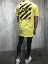 Load image into Gallery viewer, Yellow Printed Oversize T-Shirt A16 Streetwear T-Shirts
