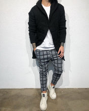 Load image into Gallery viewer, Gray Checkered Baggy Jogger Pant B316 Streetwear Jogger Pants