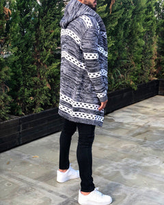 Light Gray Oversized Hoodie Cardigan B253 Streetwear Cardigan