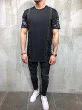 Load image into Gallery viewer, Black Printed Oversize T-Shirt A25 Streetwear T-Shirts