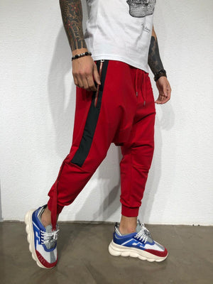 Red Side Striped Baggy Jogger Pant BL177 Streetwear Jogger Pants - Sneakerjeans