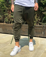 Load image into Gallery viewer, Khaki Side Striped Baggy Jogger Pant B225 Streetwear Jogger Pants - Sneakerjeans