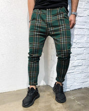 Load image into Gallery viewer, Green Checkered Jogger Pant B141 Streetwear Jogger Pants