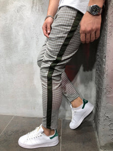 Gray Side Striped Casual Jogger Pant A150 Streetwear Jogger Pants