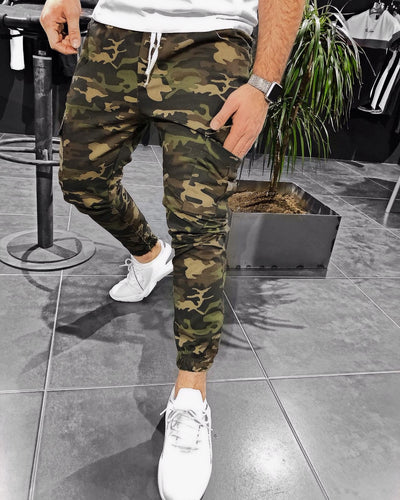 Camouflage Cargo Pocket Jogger Pant KB154 Streetwear Jogger Pants