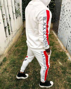 White Striped Snake Printed Tracksuit BL113 Streetwear Tracksuit - Sneakerjeans