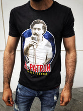 Load image into Gallery viewer, Black Escobar El Patron Printed T-Shirt OT10 Streetwear T-Shirts - Sneakerjeans
