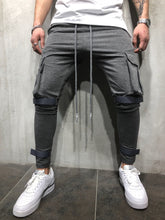 Load image into Gallery viewer, Gray Jogger Pant A55 Streetwear Jogger Pants