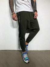 Load image into Gallery viewer, Khaki Side Striped Baggy Jogger Pant BL178 Streetwear Jogger Pants