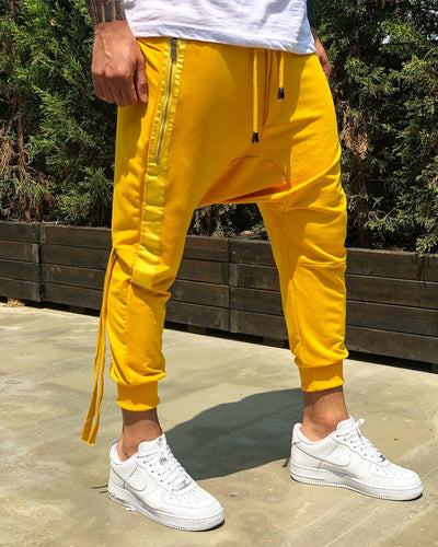 Yellow Side Striped Baggy Jogger Pant B224 Streetwear Jogger Pants