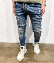 Load image into Gallery viewer, Black Zipper Denim B54 Streetwear Denim Jeans - Sneakerjeans