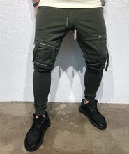 Load image into Gallery viewer, Khaki Ribbons Jogger Pant B124 Streetwear Jogger Pants