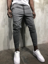 Load image into Gallery viewer, Gray Banding Casual Jogger Pant A56 Streetwear Jogger Pants - Sneakerjeans