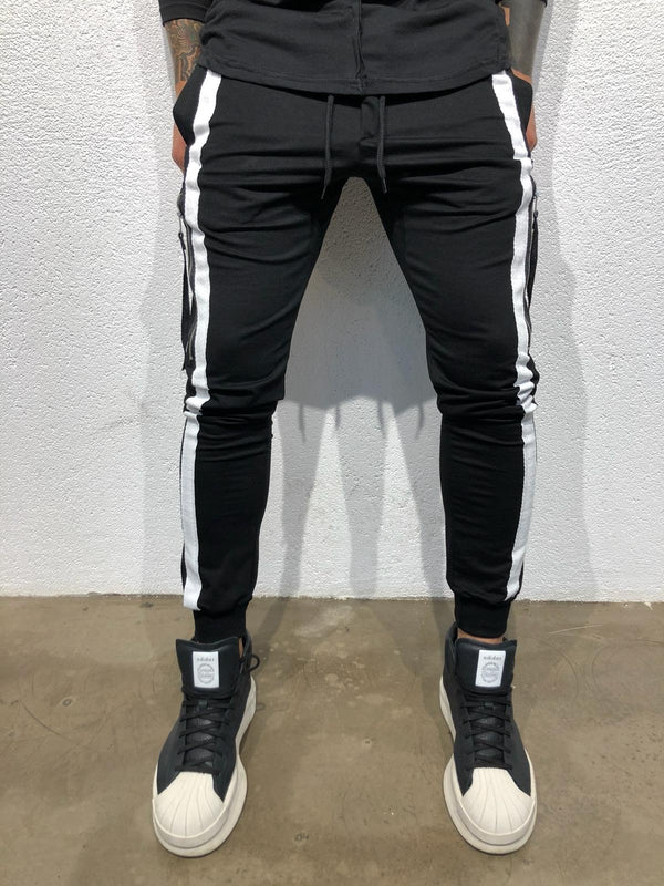 Sneakerjeans - Black Striped Jogger Pant B303 Joggers - Sneakerjeans