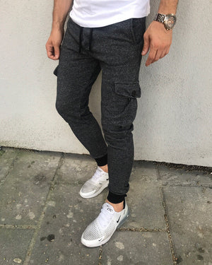 Antracite Cargo Pocket Jogger Pant HB11 Streetwear Jogger Pants - Sneakerjeans