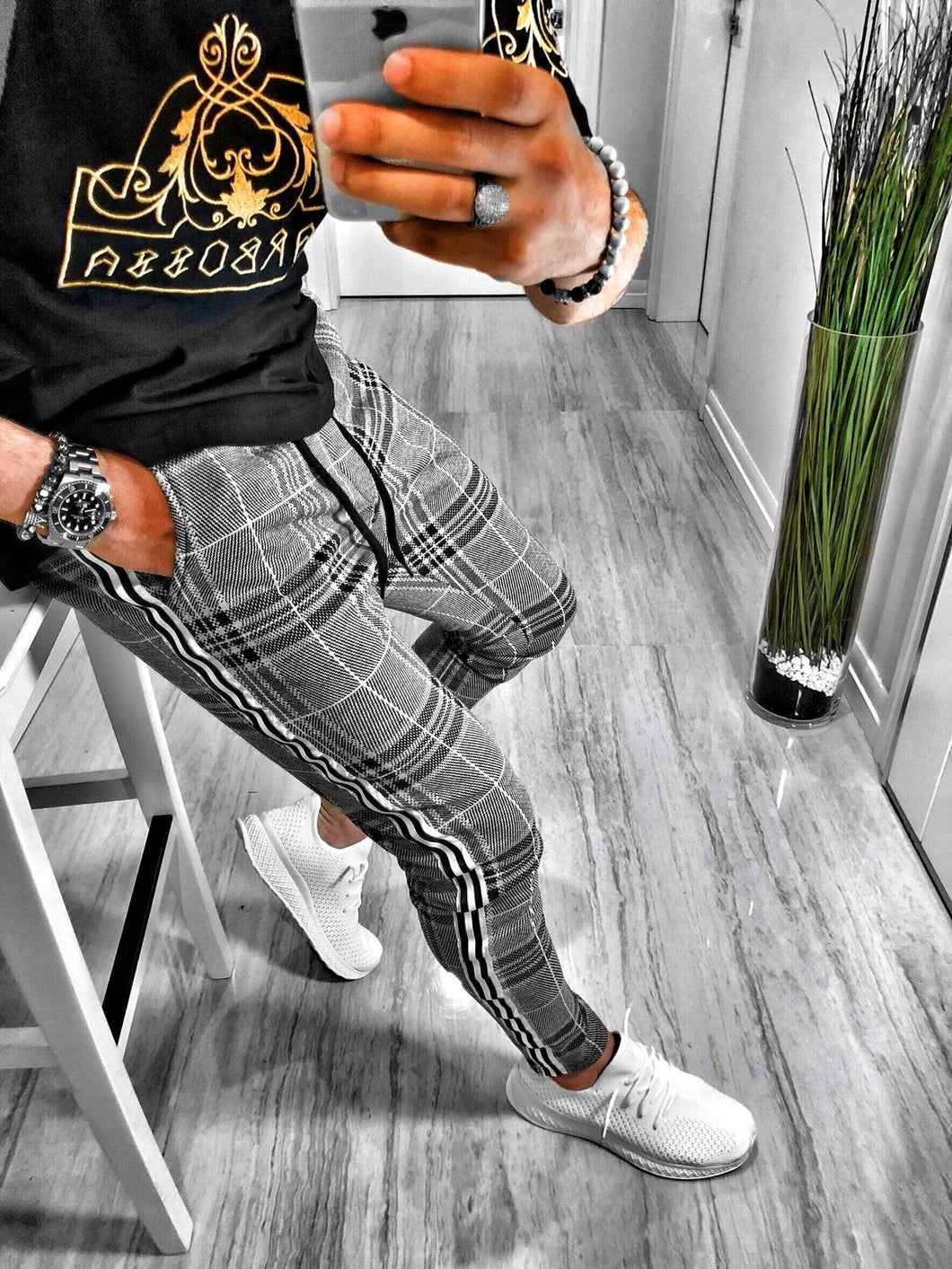 Checkered Jogger Pant S213 Streetwear Jogger Pants