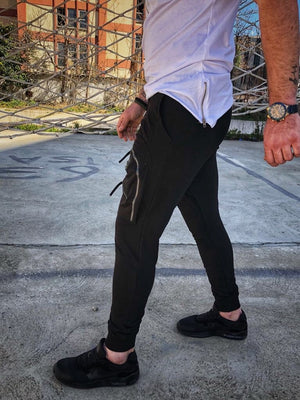 Black Big Pockets Jogger Pant DM5 Streetwear Jogger Pants - Sneakerjeans