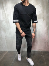 Load image into Gallery viewer, Black Oversize T-Shirt A69 Streetwear T-Shirts