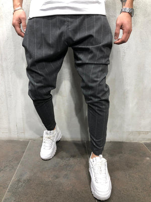 Anthracite Striped Drop Crotch Jogger Pant A293 Streetwear Jogger Pants - Sneakerjeans