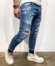 Load image into Gallery viewer, Biker Slim Fit Denim B44 Streetwear Denim Jeans