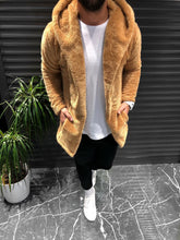 Load image into Gallery viewer, Brown Cream Shearling Jacket KB140 Streetwear Shearling