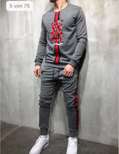 Load image into Gallery viewer, Gray Snake Tracksuit Gymwear Set SJ220 Streetwear Tracksuit Jogger Set