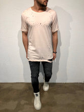 Load image into Gallery viewer, Pink Hole Oversized T-Shirt B87 Streetwear T-Shirts