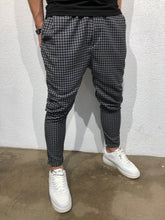 Load image into Gallery viewer, Black Checkered Baggy Jogger Pant B161 Streetwear Jogger Pants