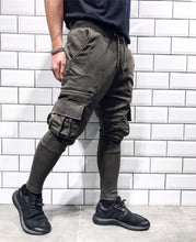Load image into Gallery viewer, Khaki Cargo Pocket Jogger Pant SJ268 Streetwear Jogger Pants - Sneakerjeans