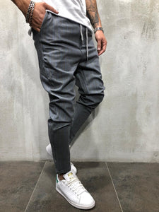 Gray Blue Striped Casual Jogger Pant A214 Streetwear Casual Jogger Pants