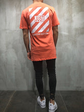 Load image into Gallery viewer, Orange Printed Oversize T-Shirt A17 Streetwear T-Shirts