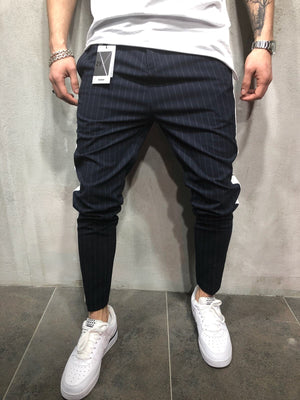 Navy Side Striped Casual Jogger Pant A112 Streetwear Jogger Pants - Sneakerjeans